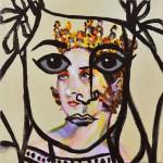 "Joshua Petker, Royalty II, 2012, acrylic and ink on canvas, 12x12""_LR"