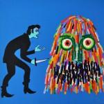 "Joshua Petker, Killer, 2013, acrylic and ink on canvas, 24x24"""