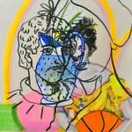 "Joshua Petker, Still Life, 2013, acrylic and ink on canvas, 24x24"""